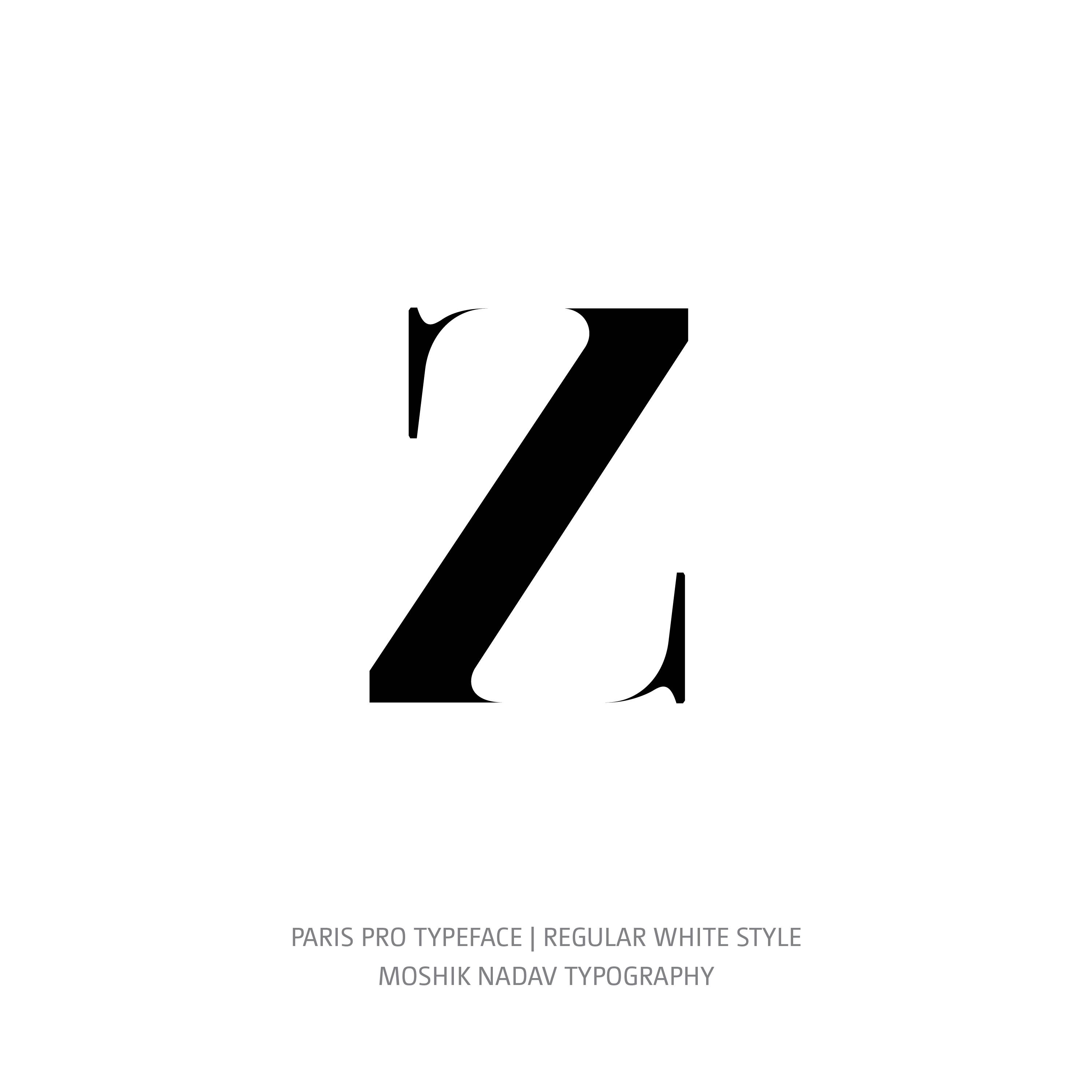 Lingerie Typeface Regular White z