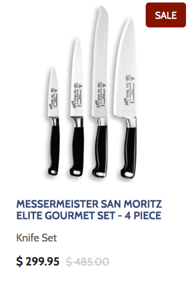 Messermeister San Moritze Elite Gourmet Set 4 Piece