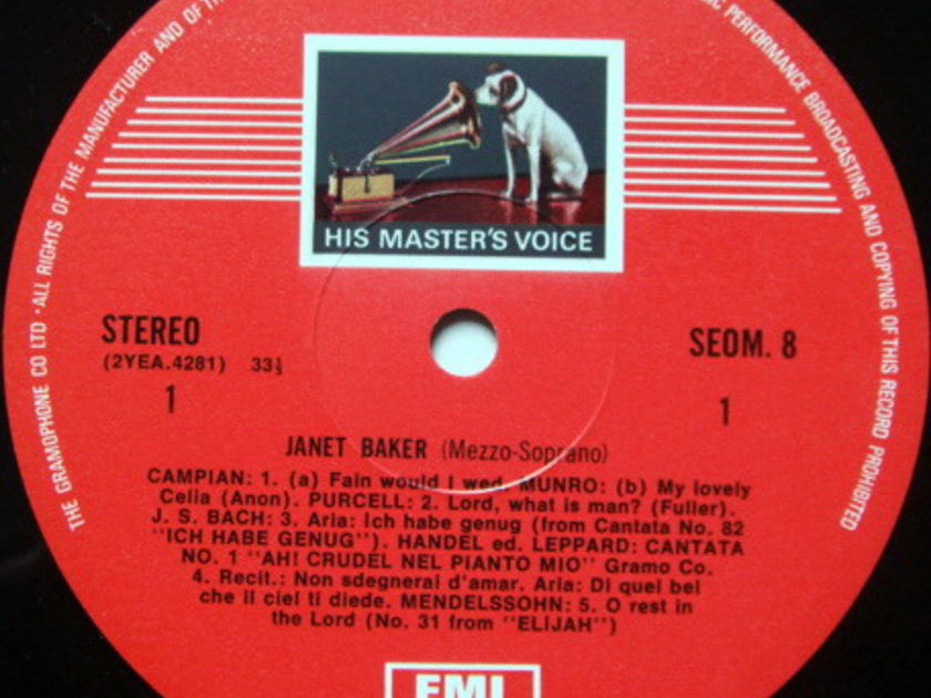 EMI ASD STAMP-DOG / JANET BAKER, - Songs & Arias, MINT!
