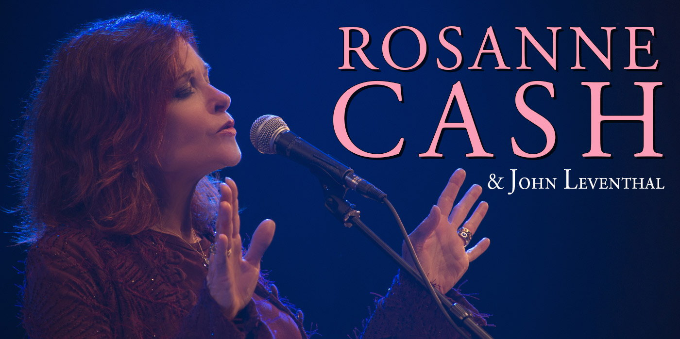 Rosanne Cash with John Leventhal at the Shubert Theatre