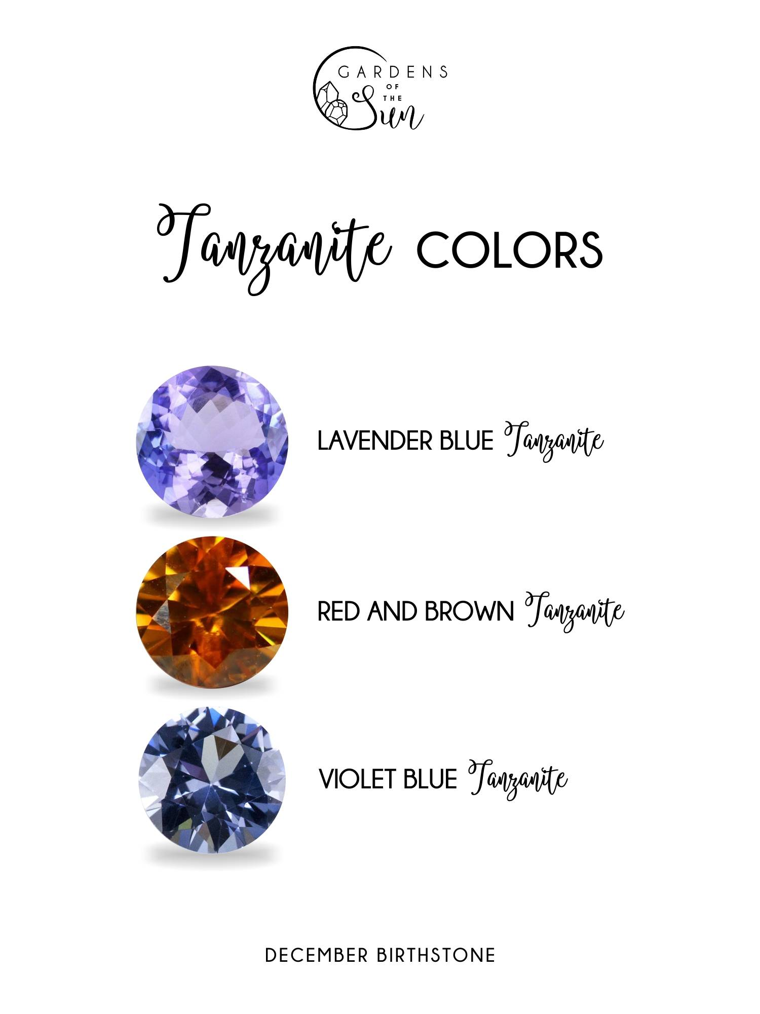 Tanzanite colors