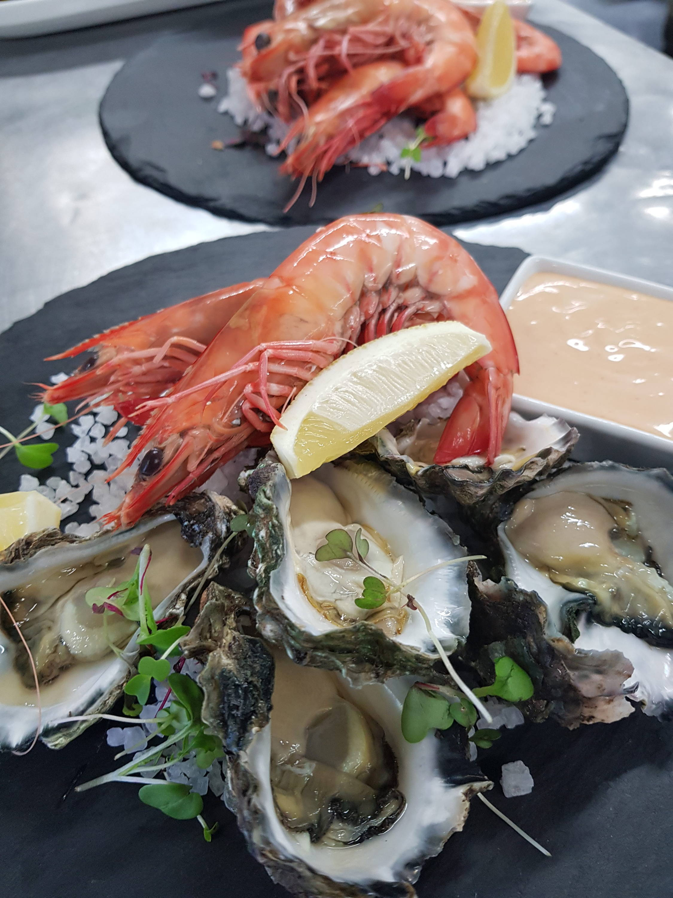 Prawns and Oysters at Peterson House in Hunter Valley Winery