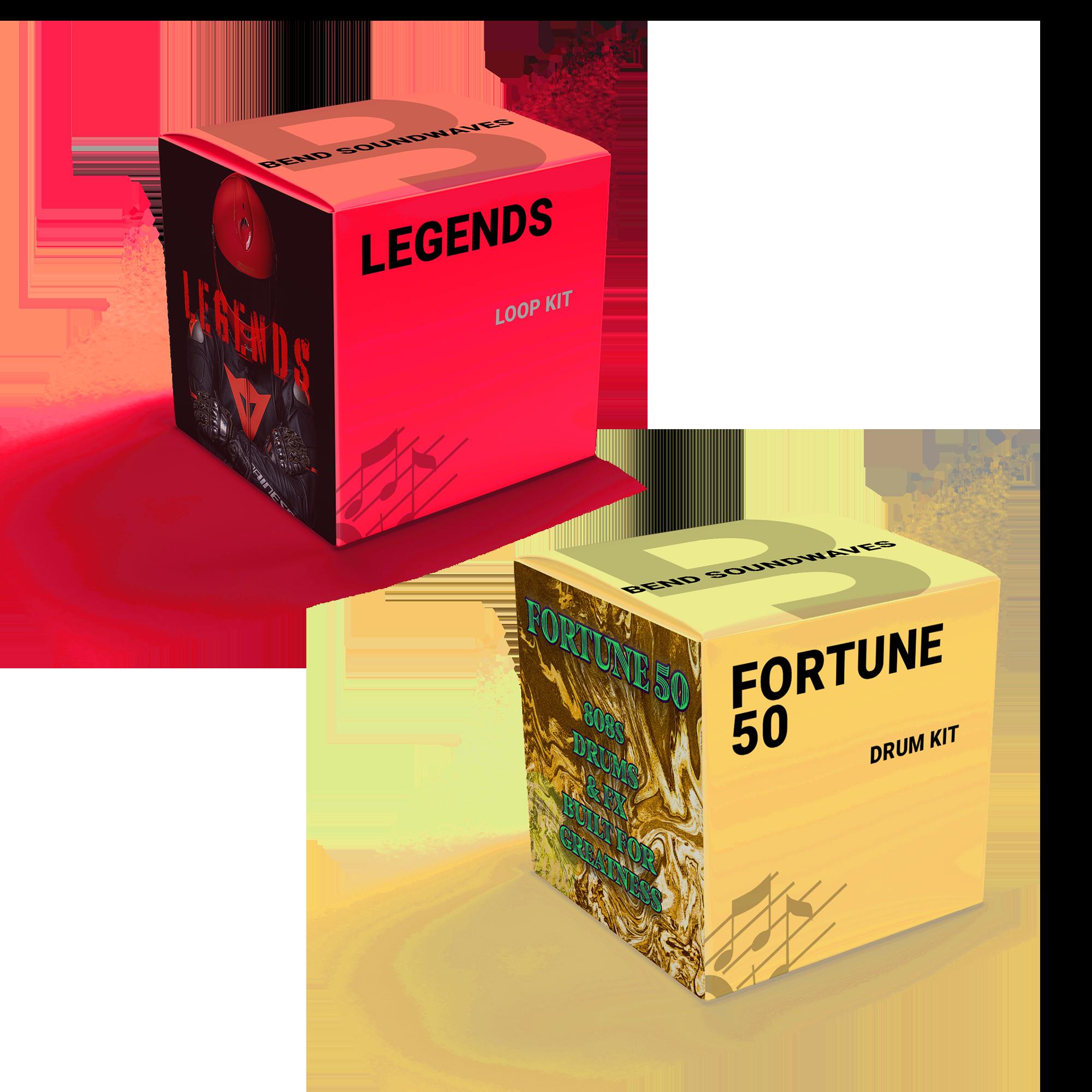 trap sounds bundle, fortune 50 drum kit, legends loop kit