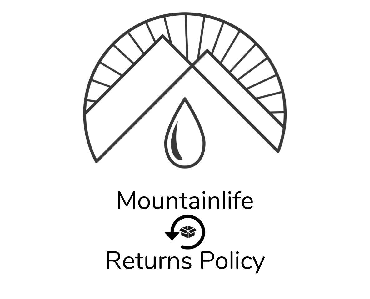 mountainlife returns policy logo in black