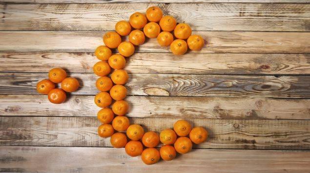 Orange mit Vitamin C