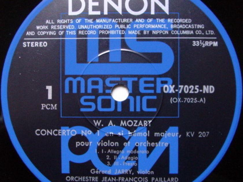★Audiophile★ Denon PCM / JERRY-PAILLARD, - Mozart Violin Concertos No.1 & 2, MINT!
