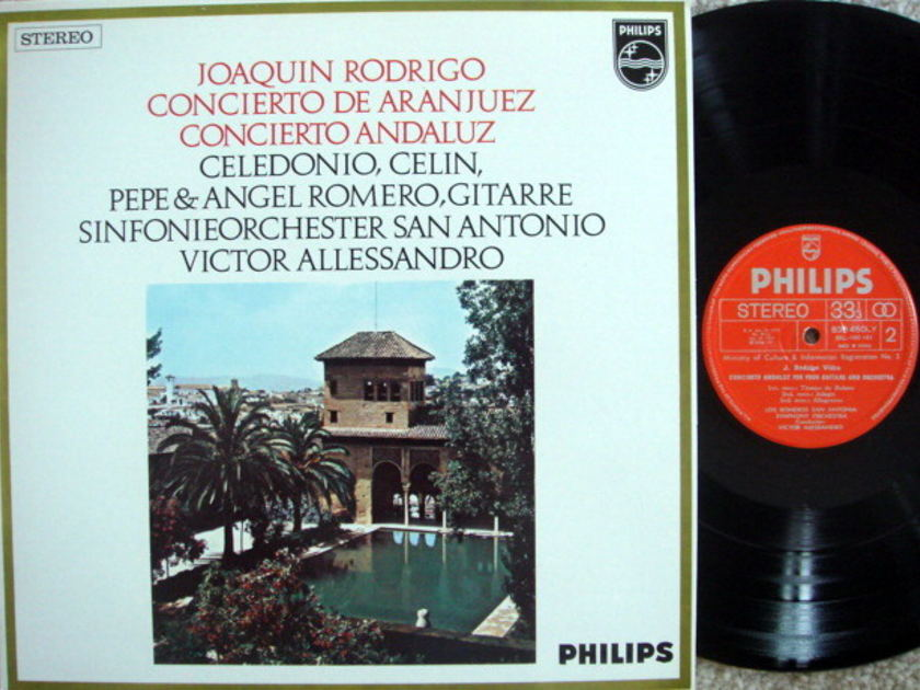 Philips / ROMEROS-ALLESSANDRO, - Rodrigo Concerto de Aranjuez, MINT!
