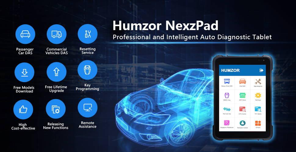Humzor NexzPad Full System OBD2 8-inch Tablet Scanner Car