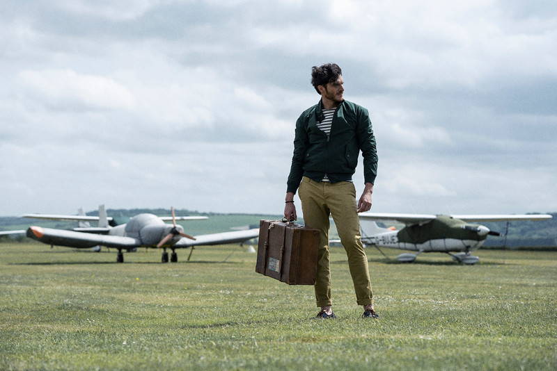 Baracuta, armor lux, YMC photoshoot at Sarum Airfield
