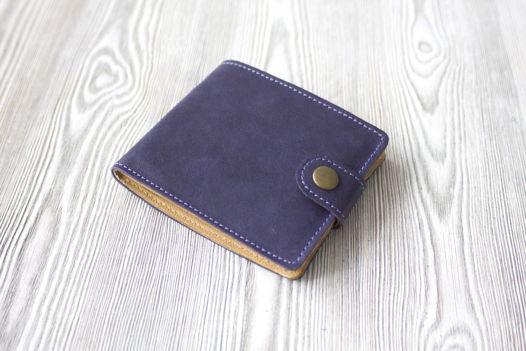 """Синий кошелек, портмоне  из натуральной кожи """"Звездная Ночь"""""""