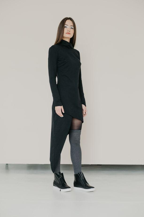 """Платье """"Спираль"""" черное"""