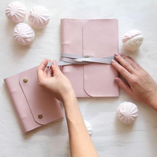 Блокнот ручной работы А5 розовый