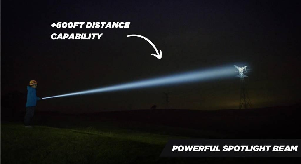Flashlight Comparison With Car Headlights
