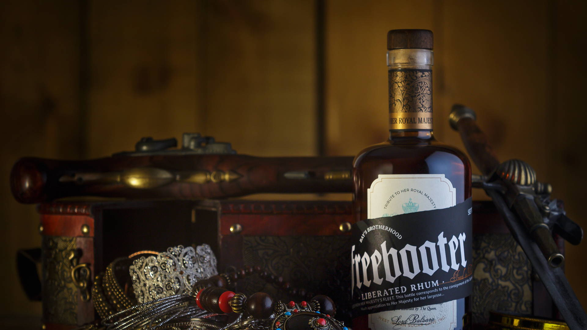 Freebooter Freedom And Long Life The Queen S Rhum Dieline