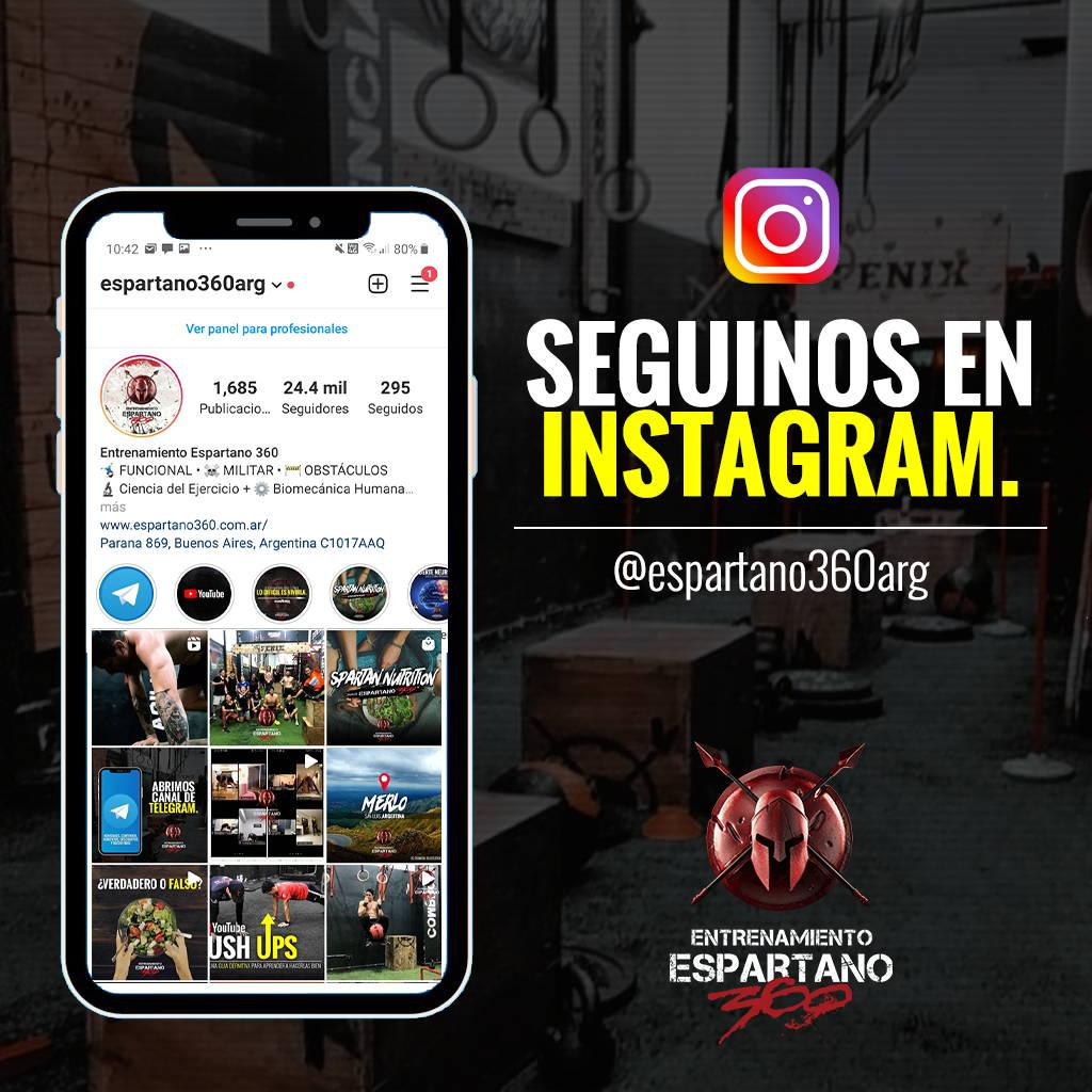 Seguí a Entrenamiento Espartano 360 en Instagram.