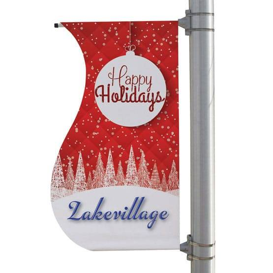 "24"" x 48"" Double-Sided S Shaped Boulevard Banner"