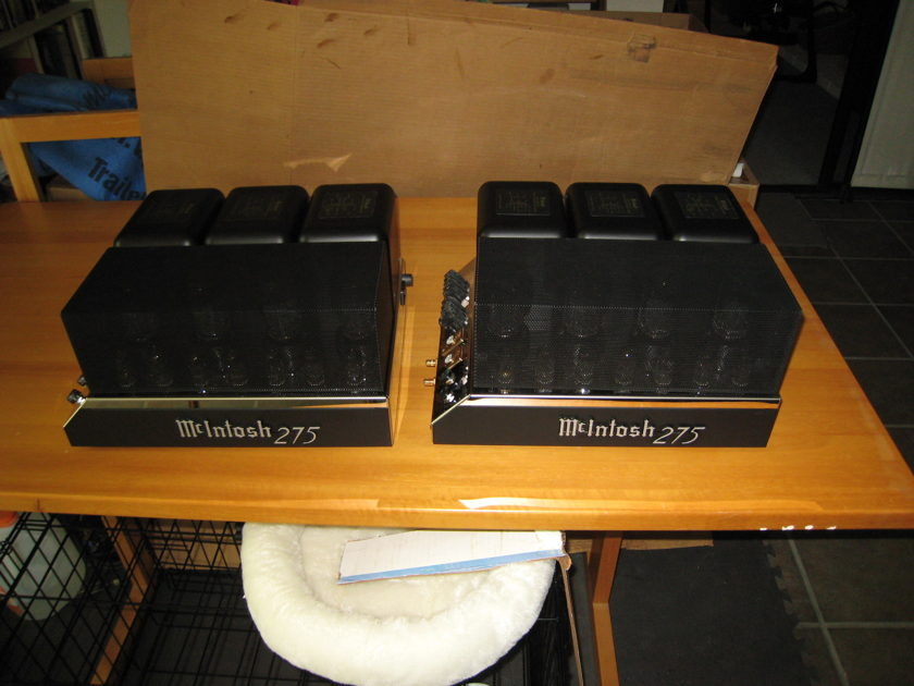 McIntosh MC275 tube amps mono pair