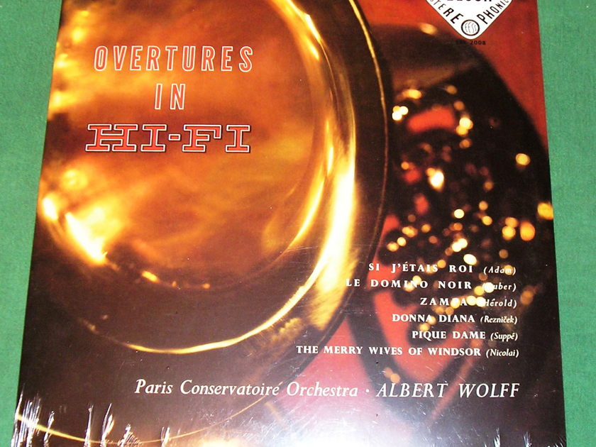 ALBERT WOLFF - OVERTURES IN HI-FI - * RARE 1958 DECCA LIMITED PRESS * NEW/SEALED