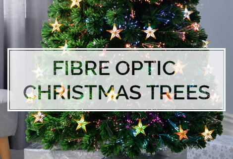 Fibre Optic Christmas Tree With Baubles.Werchristmas Pre Lit Christmas Trees Fibre Optic Trees