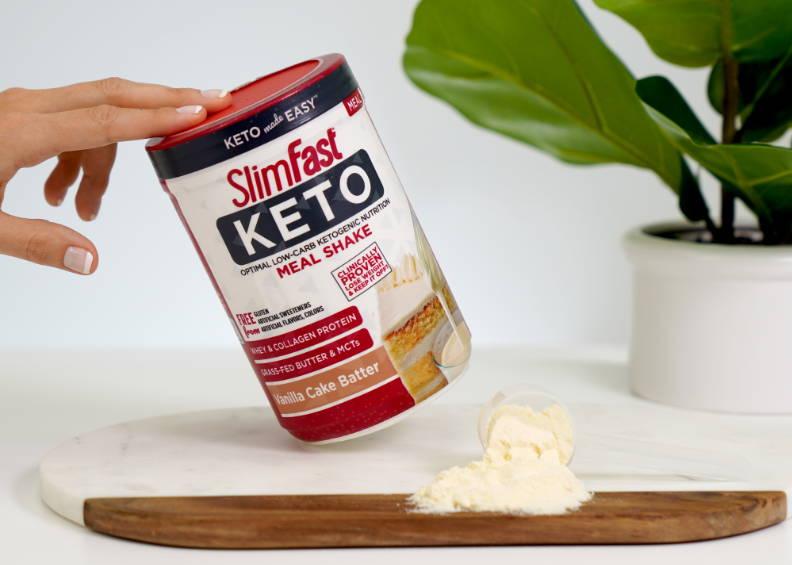 Vanilla Cake Batter Keto Shake Mix- lifestyle image