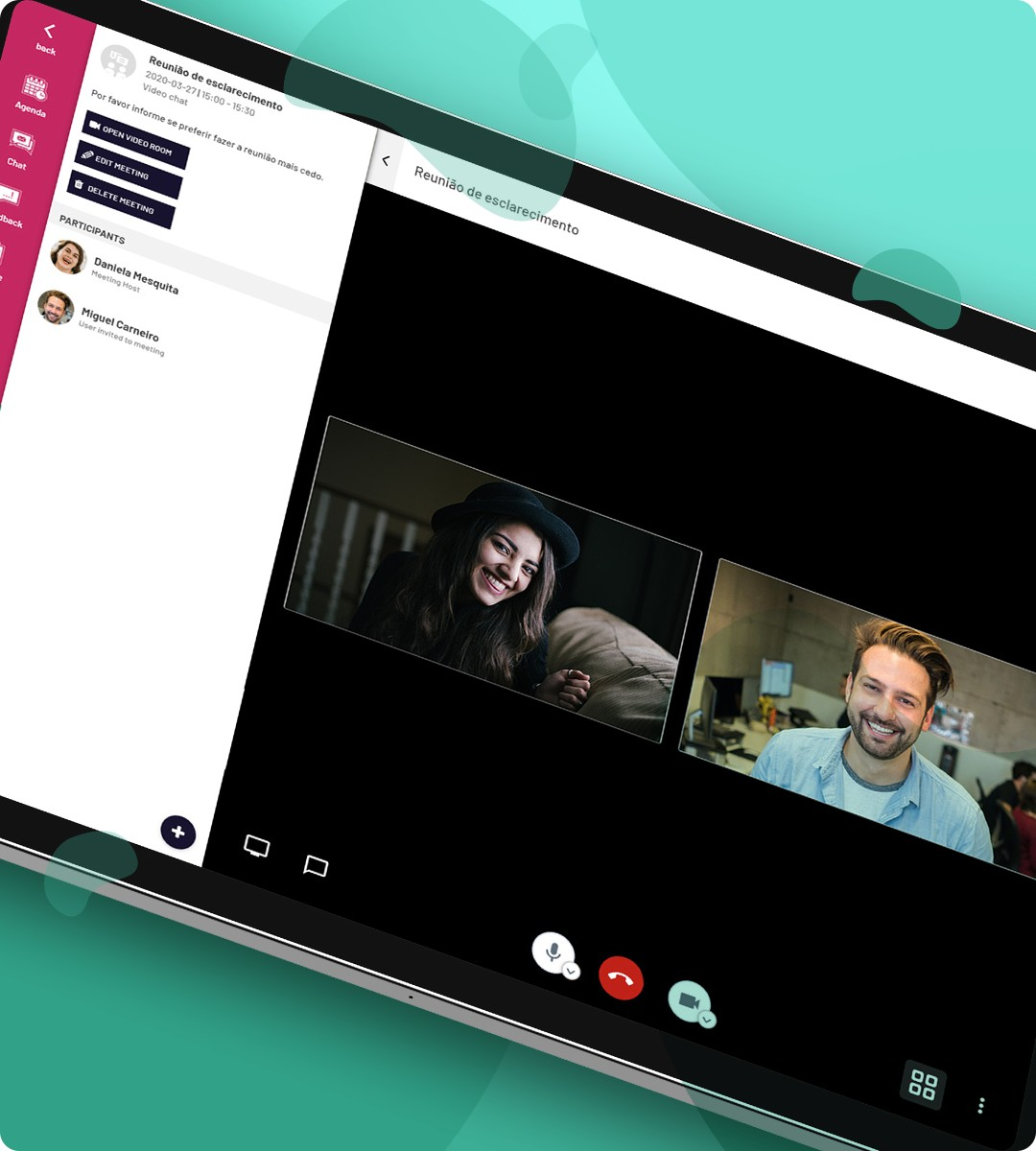 Meetings & video-chat in virtual events