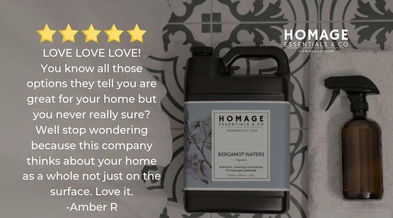 Non-toxic hydrogen peroxide cleaners Homage Essentials Homageco.com