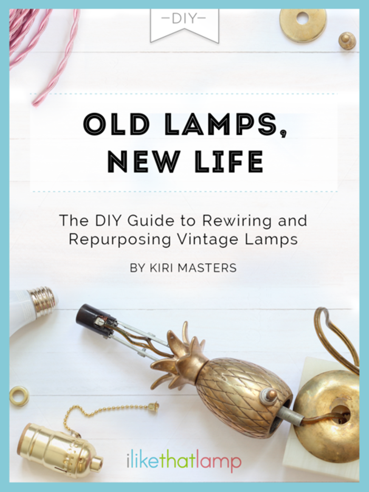 How to Rewire a Lamp Using a DIY Lamp Kit - Check out more great DIY lamp tutorials at http://www.ilikethatlamp.com !