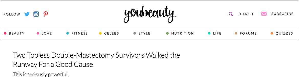 Youbeauty.com - Two Topless Double-Mastectomy Survivors Walked the Runway For a Good Cause
