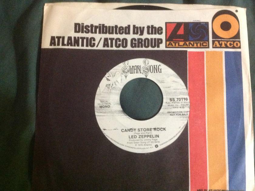 Led Zeppelin - Candy Store Rock Promo Mono Stereo 45 NM Swan Song Label
