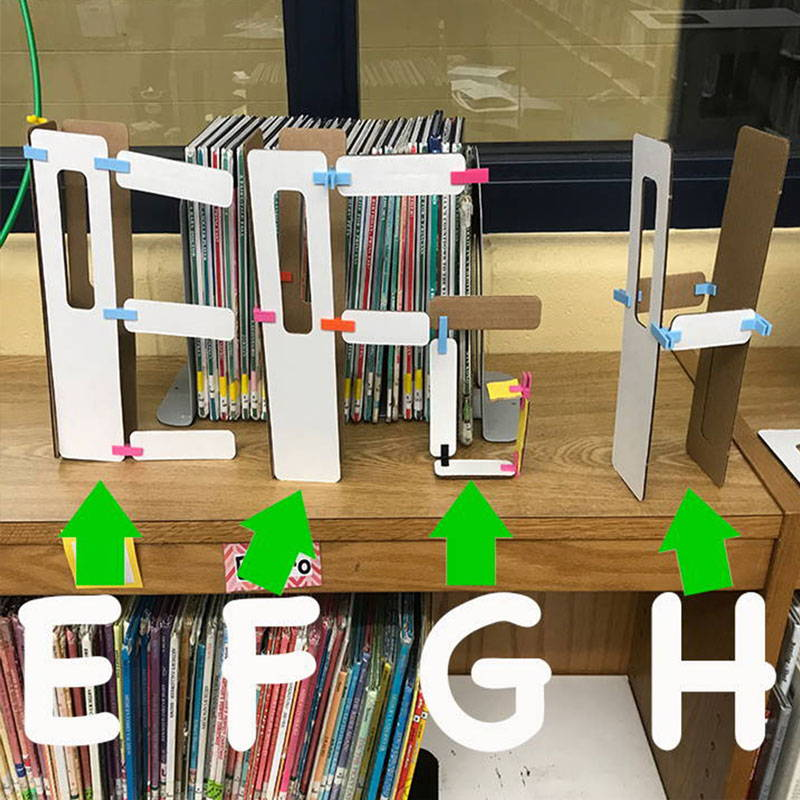 hands on STEM and ELA activity with building the alphabet activity