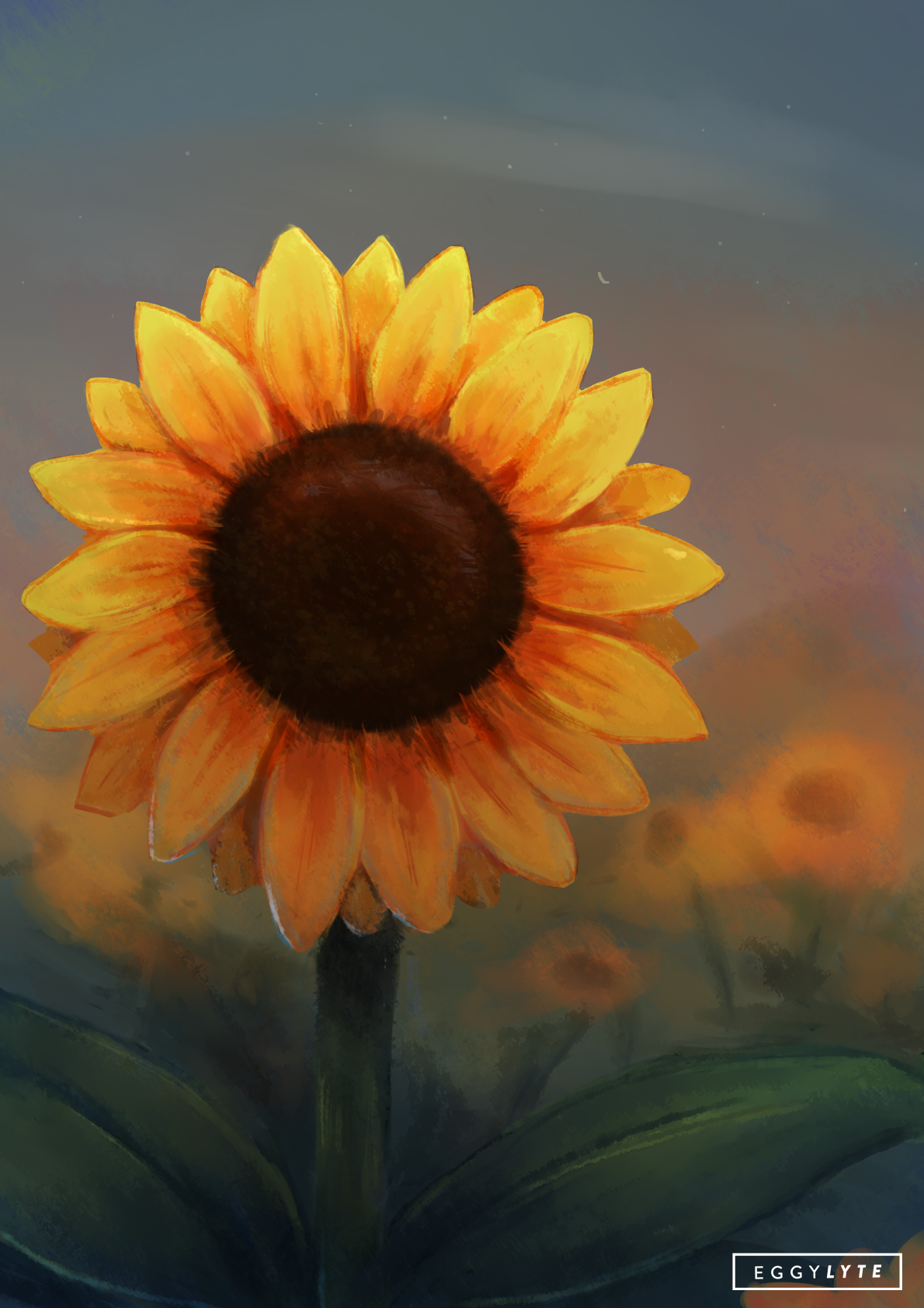 Sunflower, a drawing by Eggylyte