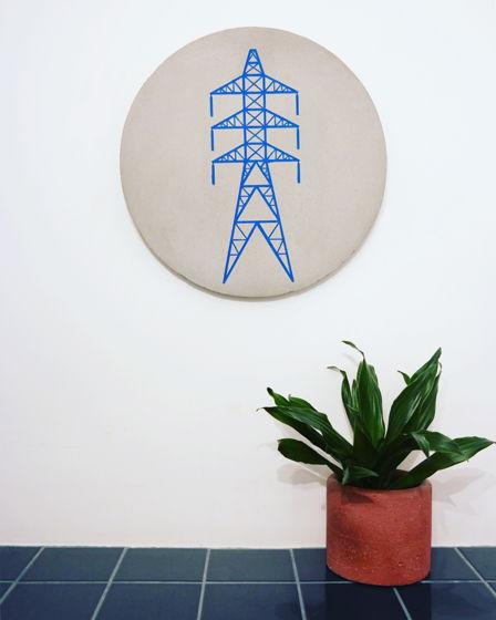 Настенная панель Синяя опора ЛЭП