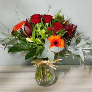 Vintage Blooms in Vase