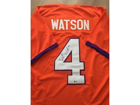 Deshaun Watson Autographed Clemson Jersey