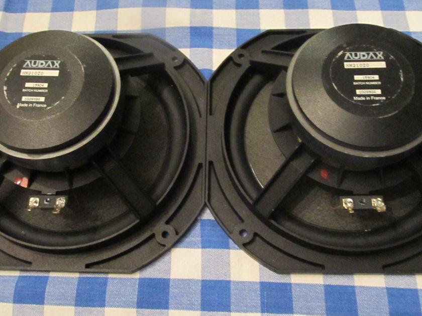 Audax Woofers 8 inch HM210Z0 (PAIR) - rare  foam surround - same batch