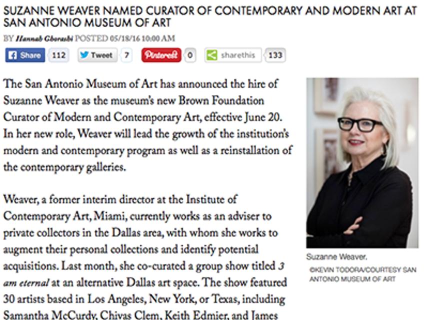 Suzanne Weaver, ArtNews