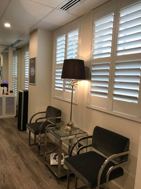 client sitting area at the skin clinic