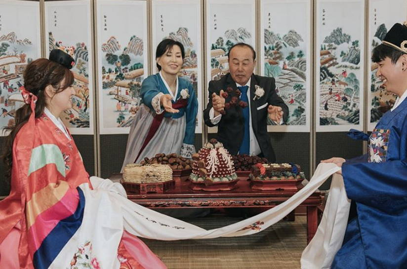 KOREAN TRADITIONAL PAEBAEK TEA CEREMONY THROWING CHESTNUTS DATES
