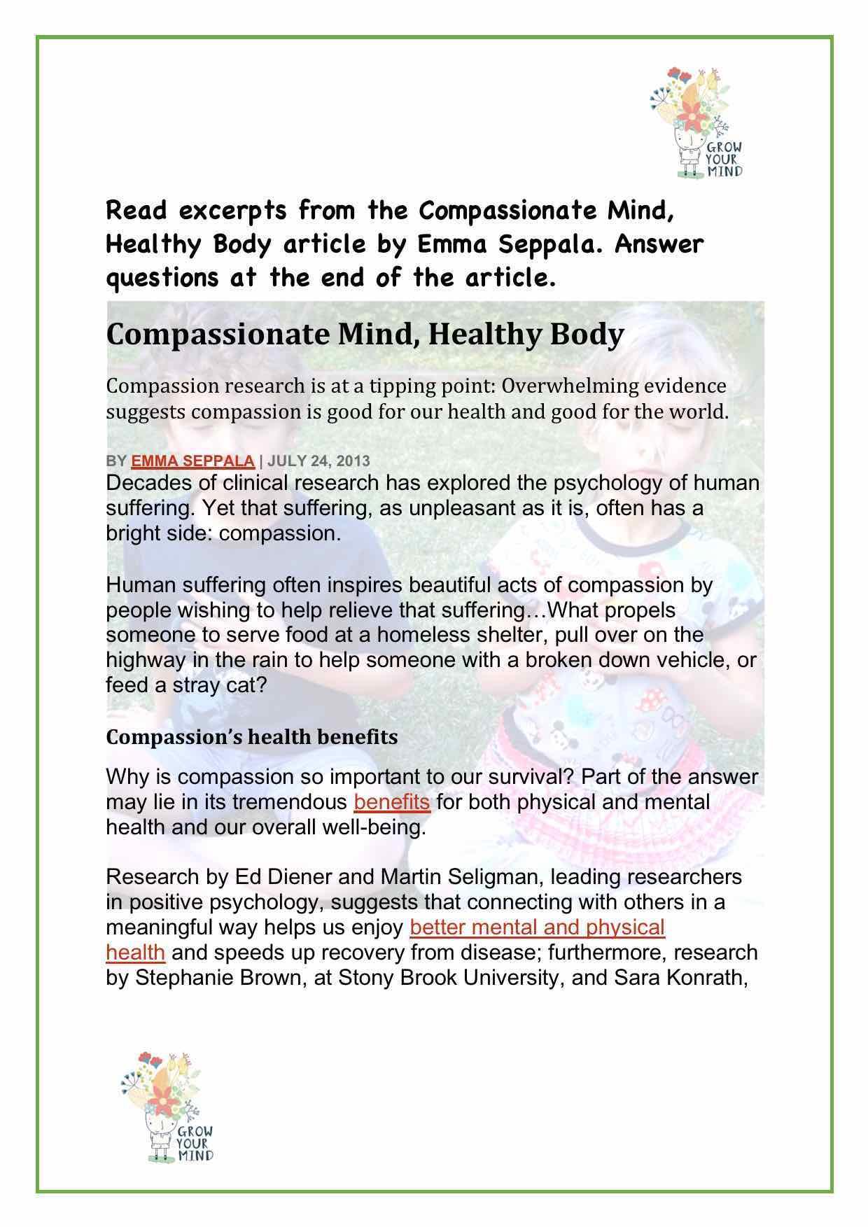 Compassion comprehension