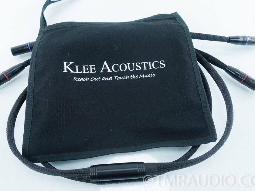 Klee Acoustics XLR Cables ; 1.5m Pair Interconnects (9458)