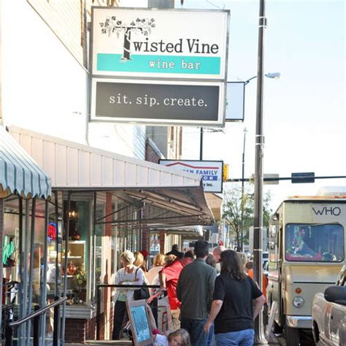 Picture of Help support local by stopping by Twisted Vine for to go drinks, wine, and cocktails!