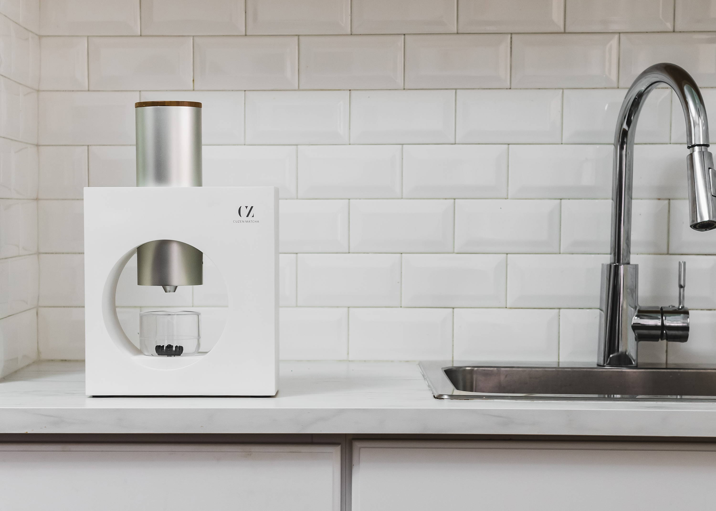 Matcha maker on kitchen countertop