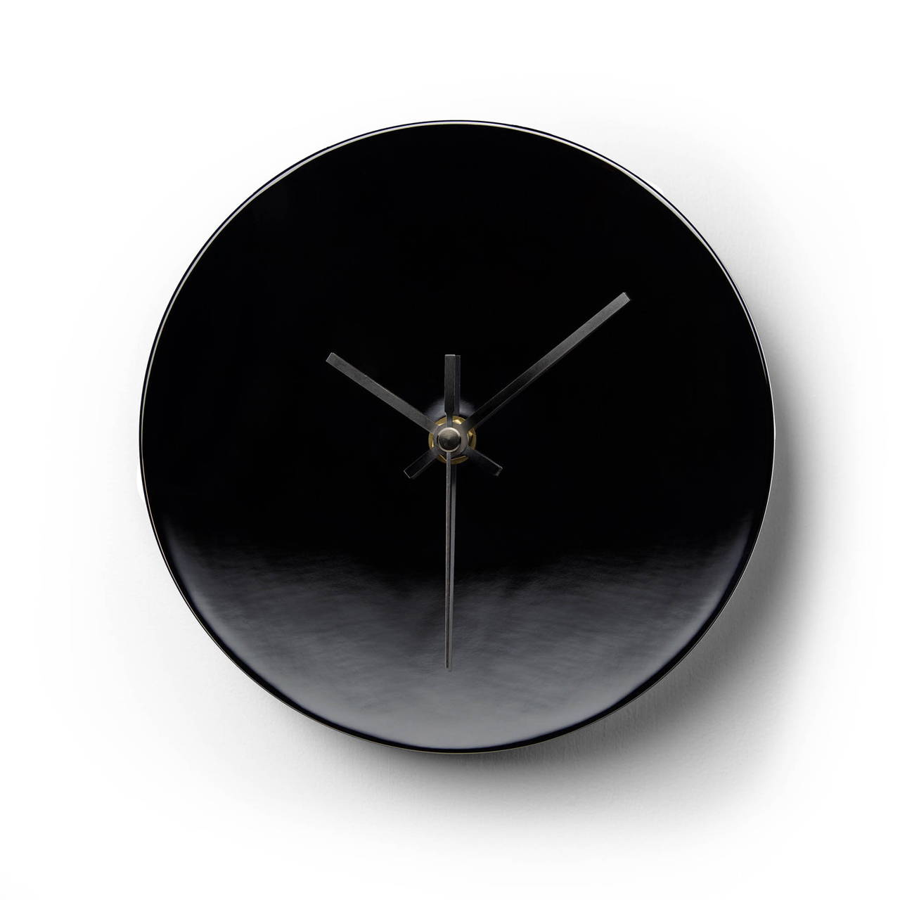 Clock in Black Nickel finish on wall
