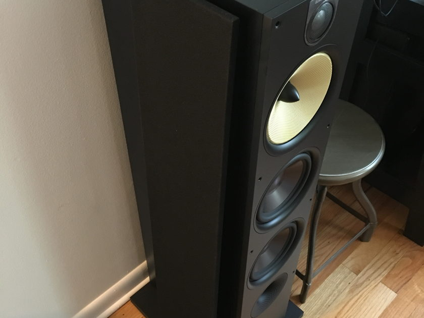 Bowers and Wilkins 683 S2 B&W tower speakers black ash