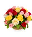 BF Mix Roses Basket Arrangement