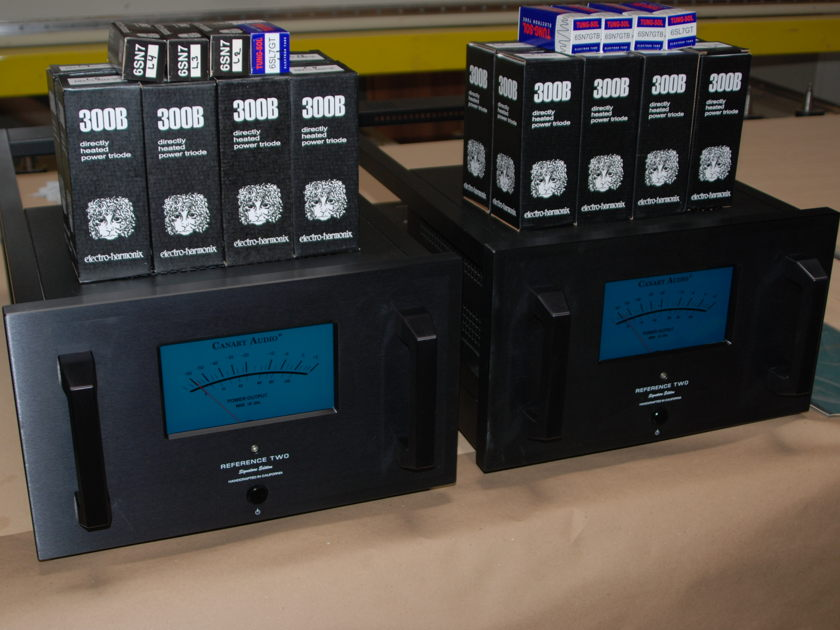 Canary Audio,  Reference Two,  80 WPC 300B Triode Mono Blocks