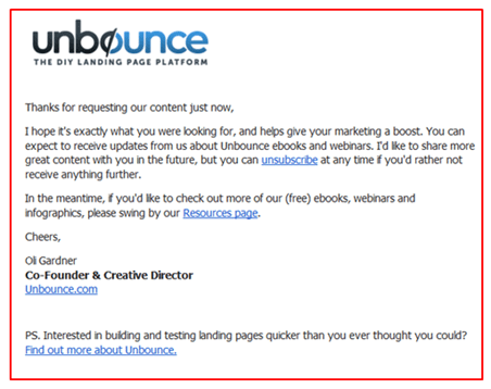 how to write a b2b welcome email