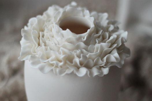 Ваза фарфоровая Пион белый