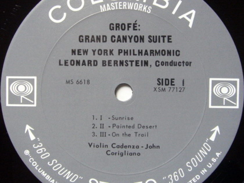 Columbia 2-EYE / LEONARD BERNSTEIN,  - Grofe Grand Canyon Suite,  MINT!
