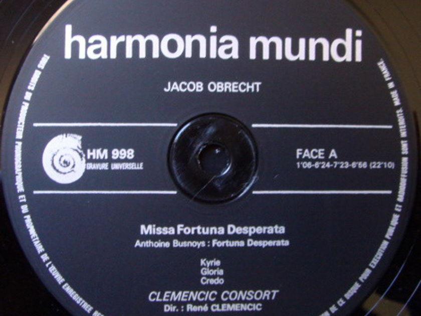 ★Audiophile★ Harmonia Mundi / CLEMENCIC CONSORT, - Obrecht Missa Fortuna Desperata, NM!